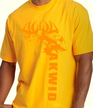 Men's Yellow Short Sleeve Graphic Tee