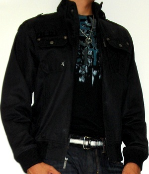 Plain Black Military Jacket Stylish Black Graphic Tee