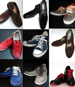 Shoes of many colors
