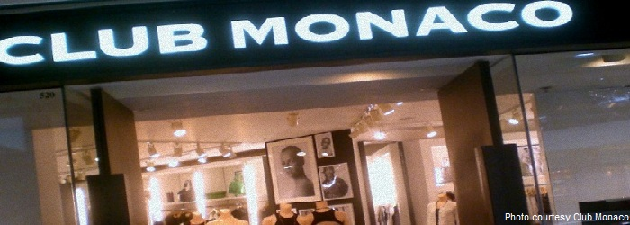 Club Monaco Clothing Store