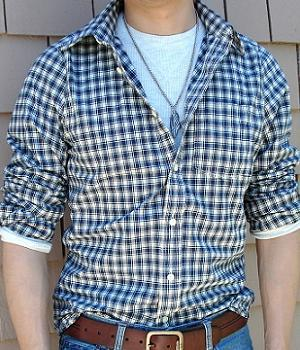 Men's Abercrombie & Fitch Black Checkered Shirt