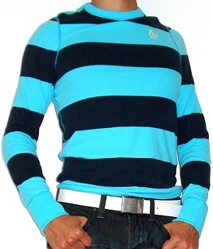 Men's Abercrombie & Fitch Blue Striped Sweatshirt