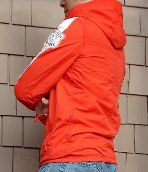 Men's Abercrombie & Fitch Orange Nylon Hoodie Jacket