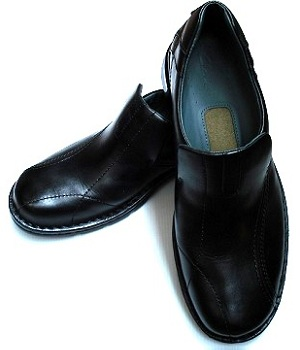 ALDO Black Leather Slip On Loafers