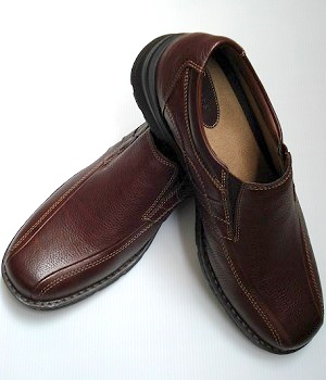 ALDO Brown Leather Slip On Shoes