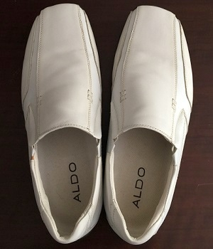 Men's ALDO White Leather Slip On Shoes
