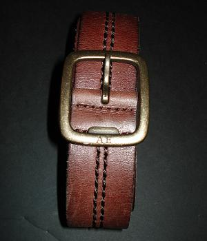 Men's American Eagle Brown Leather Belt