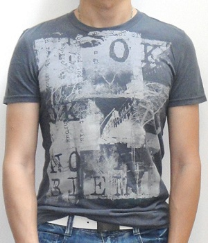 American Eagle Dark Gray Graphic T-Shirt