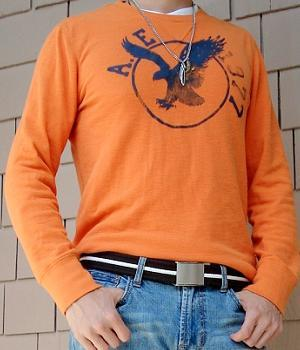 American Eagle Orange Eagle T-Shirt