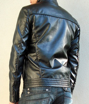 Men's Zara Black Leather Jacket
