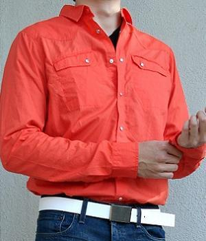 Men's Ben Sherman Orange Dress Shirt