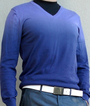 Men's Benetton Purple Gradient Sweater