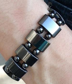 Men's Black Link Bracelet