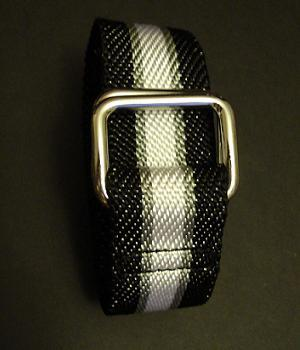 Men's Club Monaco Black Nylon Webbing Belt