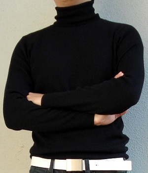 Club Monaco Black Turtleneck Sweater