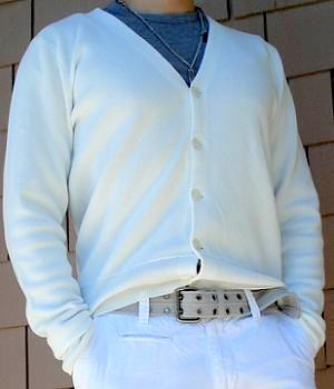 Club Monaco White Cardigan Sweater - Men's Fashion For Less