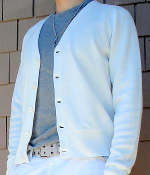 Club Monaco White Cardigan Sweater