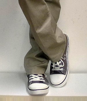 Men's Converse Gray Canvas Sneakers