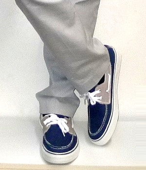 Converse Navy Canvas Boat Shoes