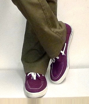 Converse Purple Canvas Boat Shoes