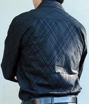 Men's Eighty Eight Black Argyle Dress Shirt