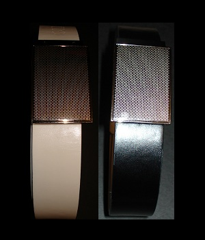Express Black White Reversible Leather Belt