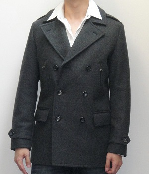 Men's Express Dark Gray Wool Pea Coat