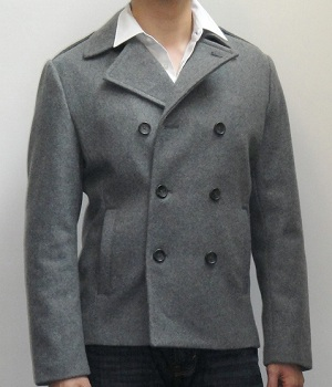 Men's Express Heather Gray Wool Pea Coat