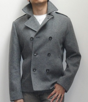 Nylon Pea Coat - Men's Fashion For Less