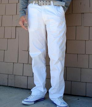Express White Cotton Pants - Men's Fashion For Less