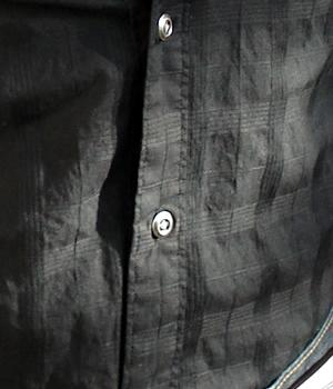Men's G By Guess Black Button Down Aviator Shirt
