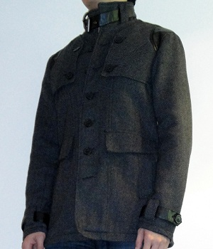 Men's G By Guess Gray Steel Neo Herringbone Coat