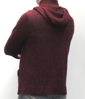 Men's G By Guess Dark Red Hoodie Cardigan