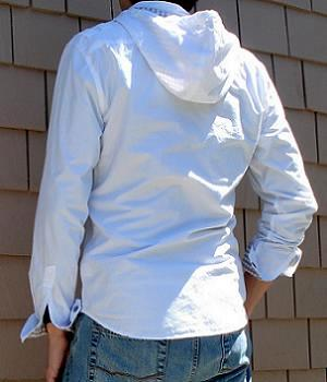 Men's G By Guess White Hoodie Shirt Jacket