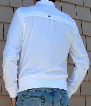 Men's G By Guess White Perforated Nylon Jacket