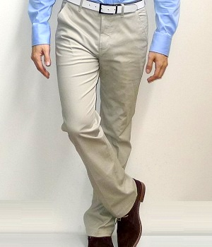 Giordano Khaki Cotton Straight Pants