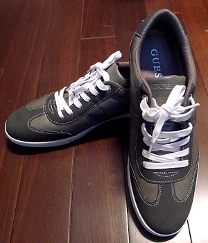 Men's Guess Dark Green Lace Up Fashion Sneakers