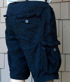 Men's H&M Black Belted Cargo Shorts