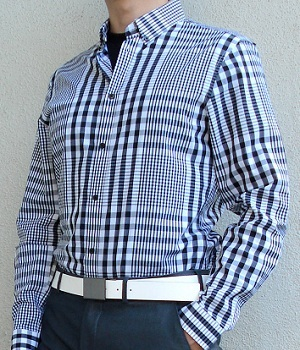 Men's H&M Black Checkered Shirt