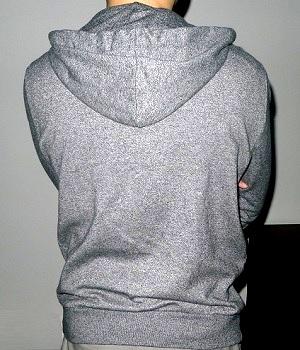 Men's H&M Black Marled Long Sleeve Zip Up Hoodie