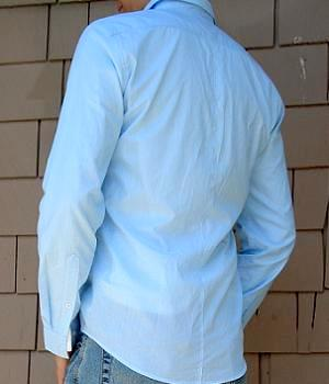 Men's H&M Blue Striped Shirt
