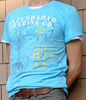 Men's H&M Light Blue Graphic Tee