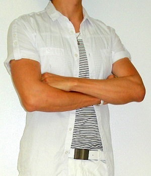 Men's H&M White Short Sleeve Shirt