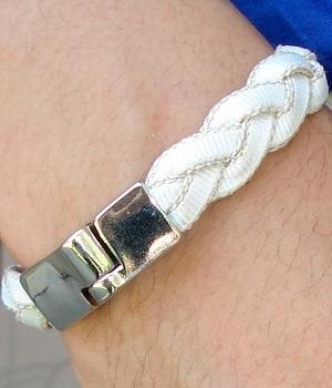 Men's H&M White Woven Bracelet
