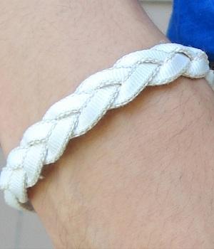 H&M White Woven Bracelet