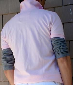 Men's Hollister Pink Polo Shirt