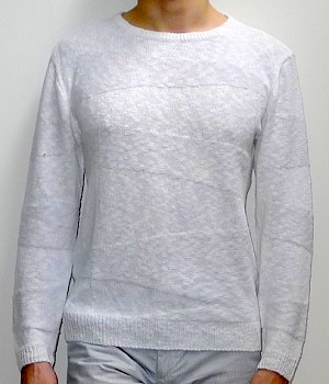 Men's J. Crew White Crew Neck Sweater