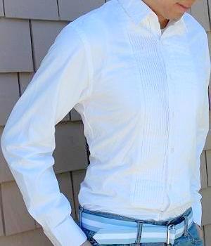 Men's J. Crew White Tuxedo Shirt