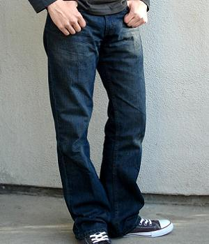 Levis Dark Blue Boot Cut Jeans - Men's Fashion For Less