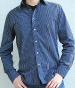 American Eagle Black Striped Shirt